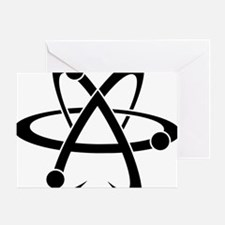 Atheist A black Greeting Card