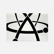 Atheist A black Rectangle Magnet
