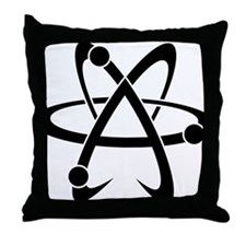 Atheist A black Throw Pillow