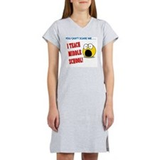 ScareMeMiddleWhite1 Women's Nightshirt