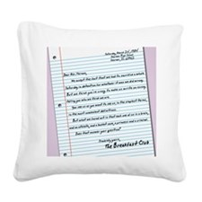 letter11x17 Square Canvas Pillow