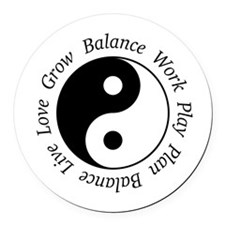 Balance Yin Yang Symbol Round Car Magnet