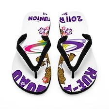 Rue Au Luau Hula Shirt Flip Flops