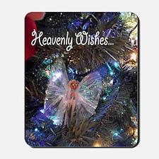 Cloth Pin Angel Christmas Heavenly Wishe Mousepad