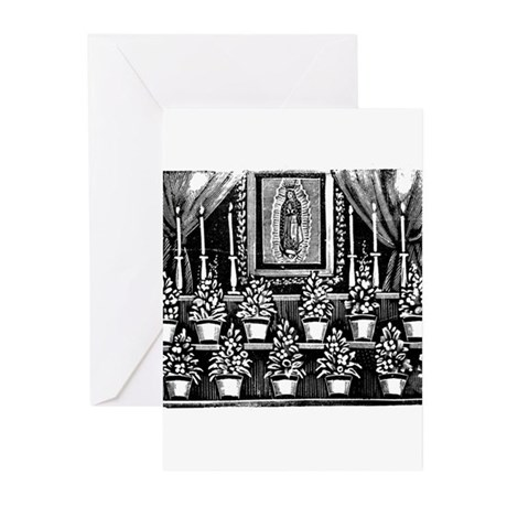Guadalupe Altar - Posada Wood Greeting Cards (Pack