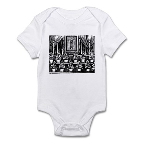 Guadalupe Altar - Posada Wood Infant Bodysuit