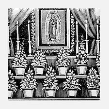 Guadalupe Altar - Posada Wood Tile Coaster