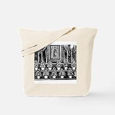 Guadalupe Altar - Posada Wood Tote Bag