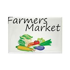Farmers Market Rectangle Magnet