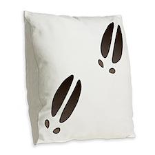 Moose Tracks Burlap Throw Pillow