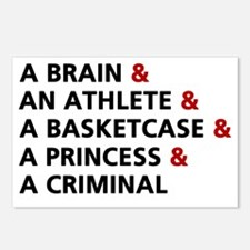 Brain athlete basket case Postcards (Package of 8)