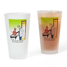 8656_cat_cartoon Drinking Glass