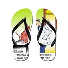 8656_cat_cartoon Flip Flops