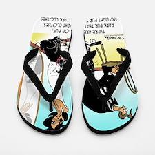 6756_pet_cartoon Flip Flops