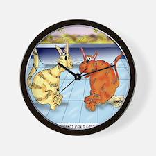 6895_cat_cartoon Wall Clock