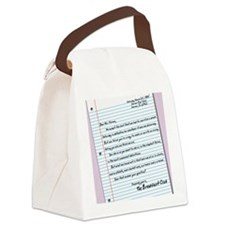 letter9x12 Canvas Lunch Bag