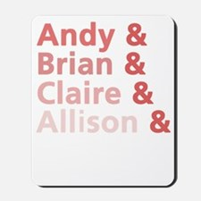 Andy brian claire light Mousepad