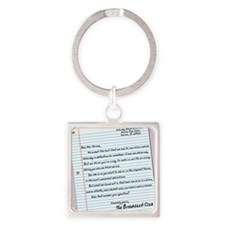 letter16x20 Square Keychain