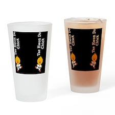 TaeKwonDoChickFlipFlopsCP Drinking Glass