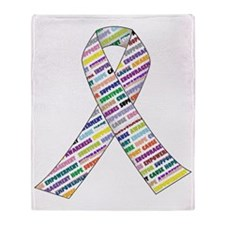 all cancer rep ribbon 2.1.gif Throw Blanket