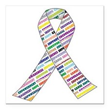 "all cancer rep ribbon 2. Square Car Magnet 3"" x 3"""