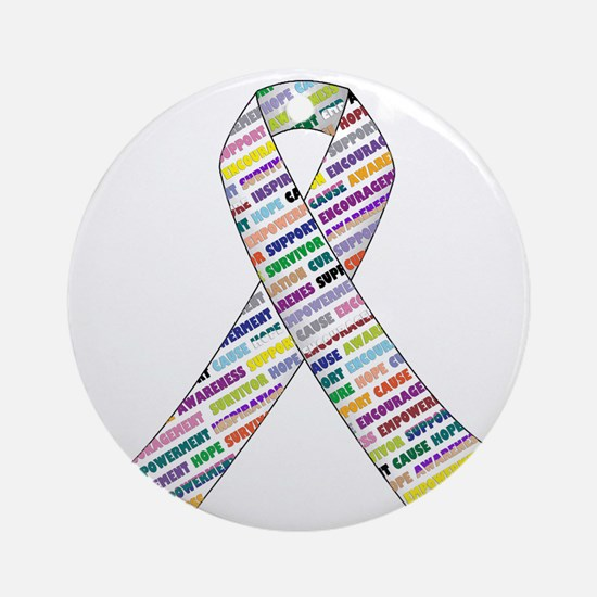 all cancer rep ribbon 2.1.gif Round Ornament