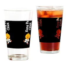 KungFuChickFlipFlopsCP Drinking Glass