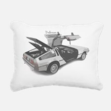 delorean Rectangular Canvas Pillow