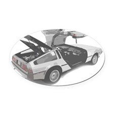 delorean Oval Car Magnet