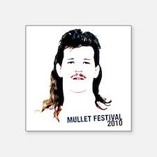 "mullet fest Square Sticker 3"" x 3"""