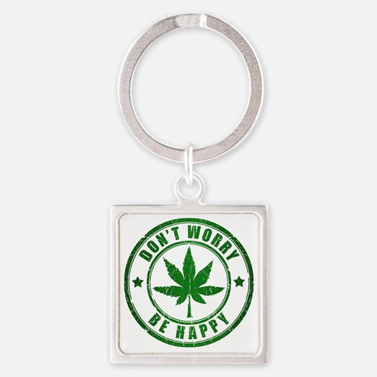dontworry Square Keychain
