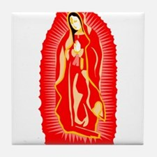 Our Lady of Guadalupe - Red Tile Coaster