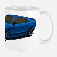 mustang drawing blue Mug