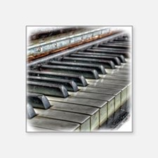 "old piano Square Sticker 3"" x 3"""