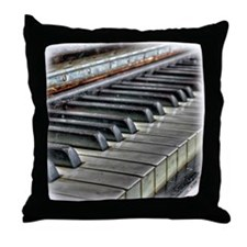 old piano Throw Pillow