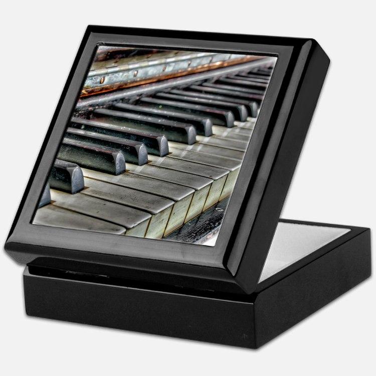old piano Keepsake Box