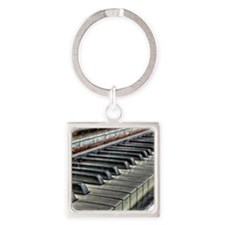 old piano Square Keychain