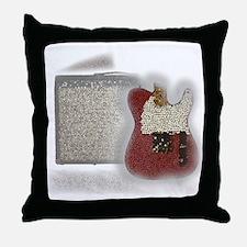 guitar and amp mosaic Throw Pillow