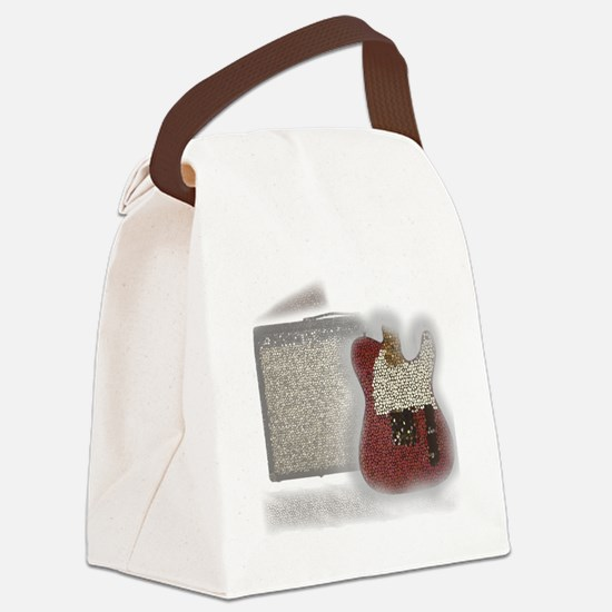 guitar and amp mosaic Canvas Lunch Bag