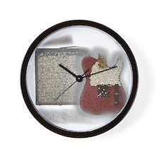 guitar and amp mosaic Wall Clock