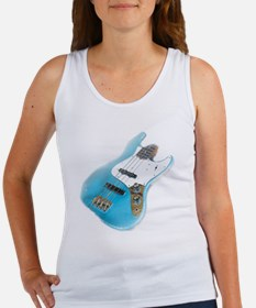 jazz bass distressed Women's Tank Top