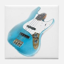 jazz bass distressed Tile Coaster