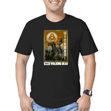 Michonne Zombie Slayer Men's Fitted T-Shirt