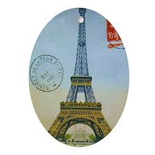 eiffelpostcardjournal Oval Ornament