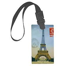 eiffelpostcardjournal Luggage Tag