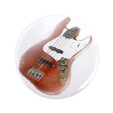 "jazz bass distressed red 3.5"" Button"