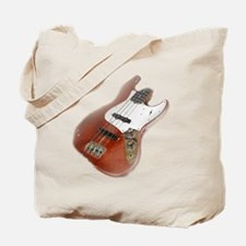 jazz bass distressed red Tote Bag