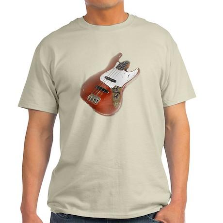jazz bass distressed red Light T-Shirt
