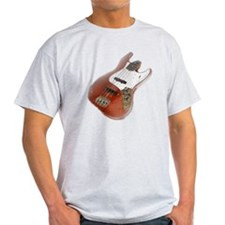 jazz bass distressed red T-Shirt
