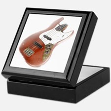 jazz bass distressed red Keepsake Box